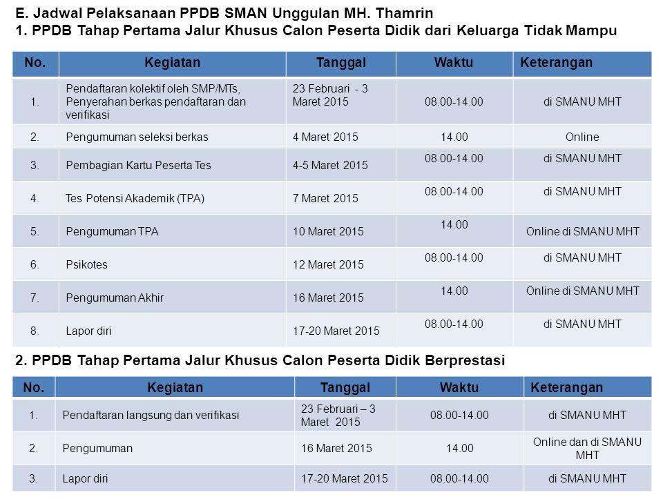 2. PPDB Tahap Pertama Jalur Khusus Calon Peserta Didik Berprestasi