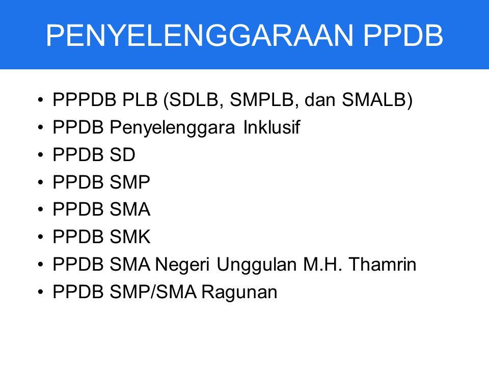 PENYELENGGARAAN PPDB PPPDB PLB (SDLB, SMPLB, dan SMALB)