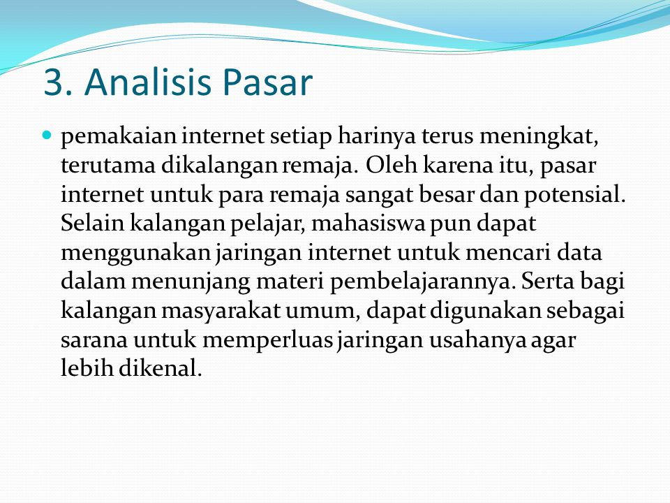 3. Analisis Pasar