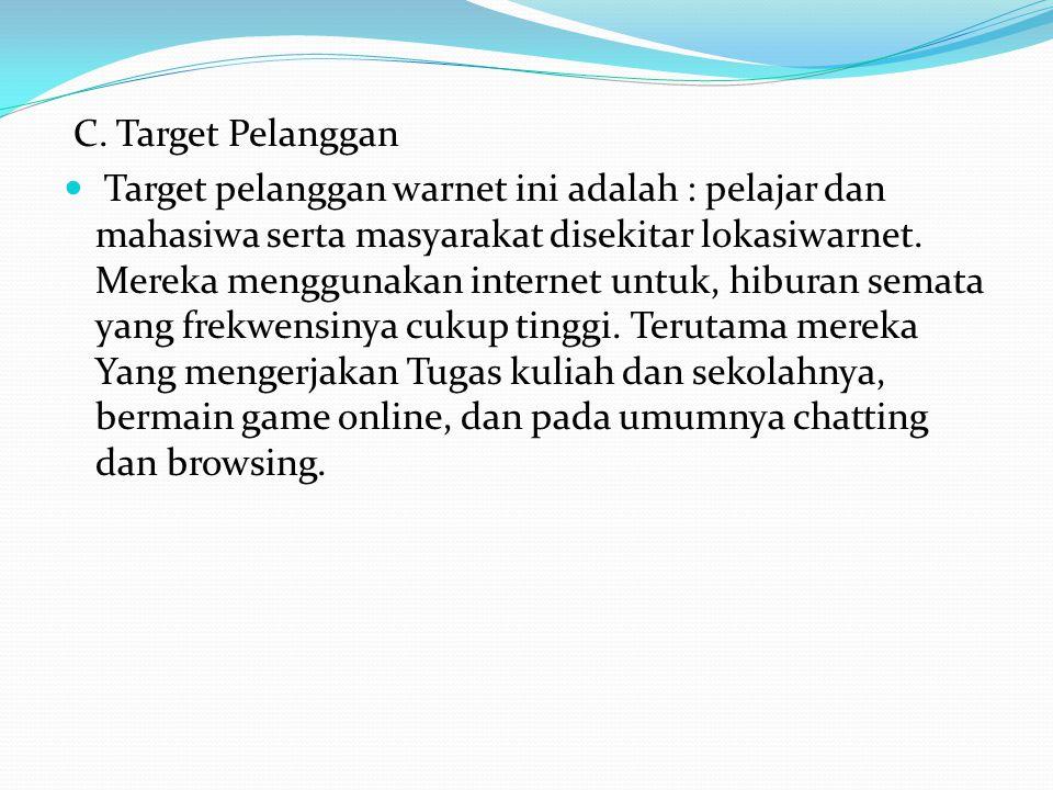 C. Target Pelanggan