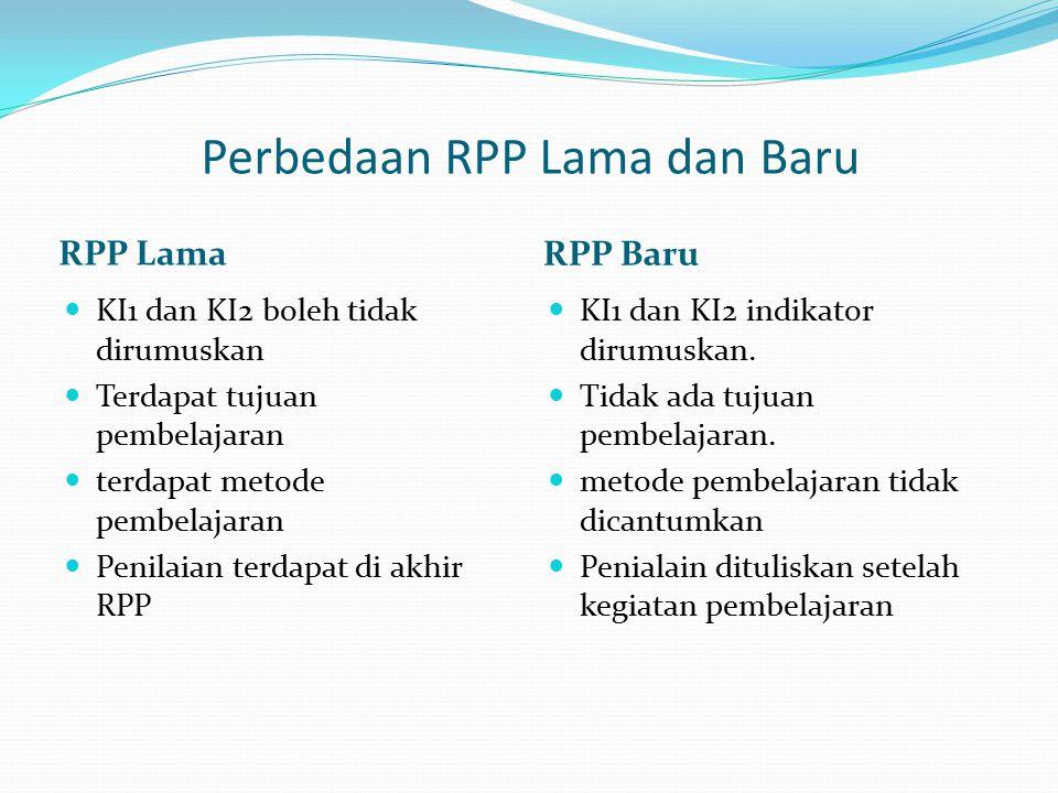 Perbedaan RPP Lama dan Baru