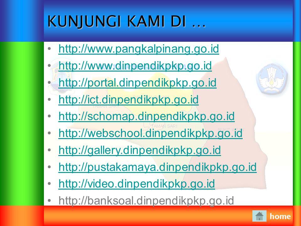 KUNJUNGI KAMI DI … http://www.pangkalpinang.go.id
