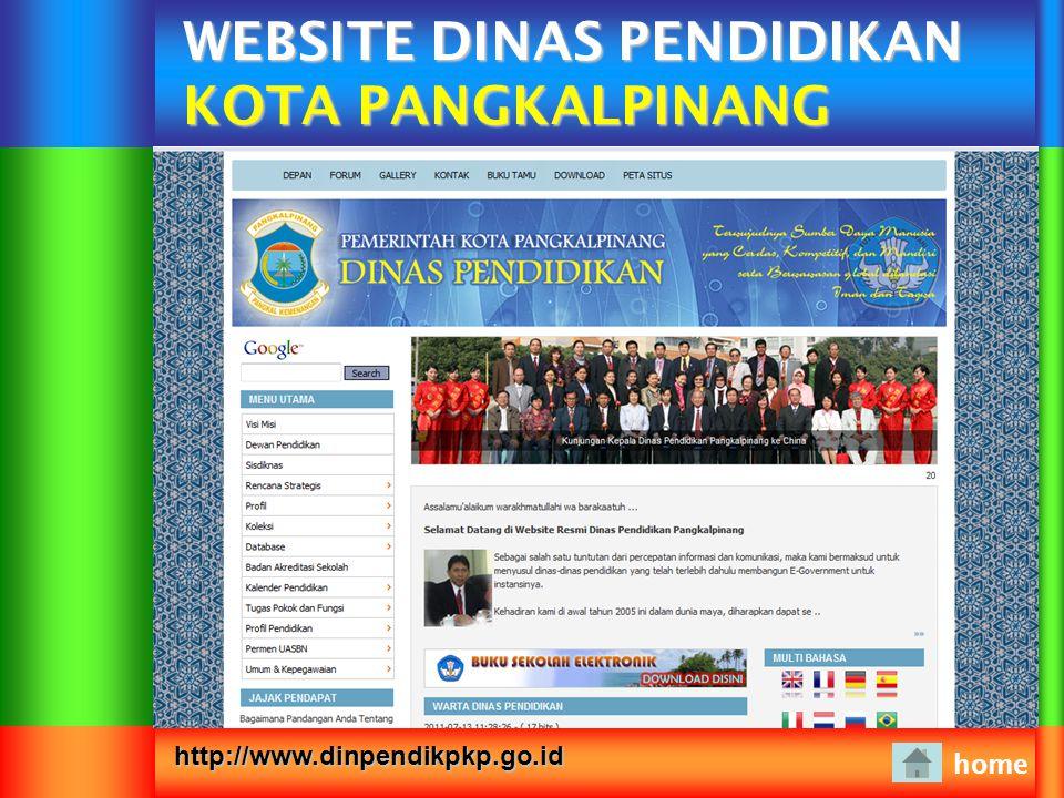 WEBSITE DINAS PENDIDIKAN KOTA PANGKALPINANG