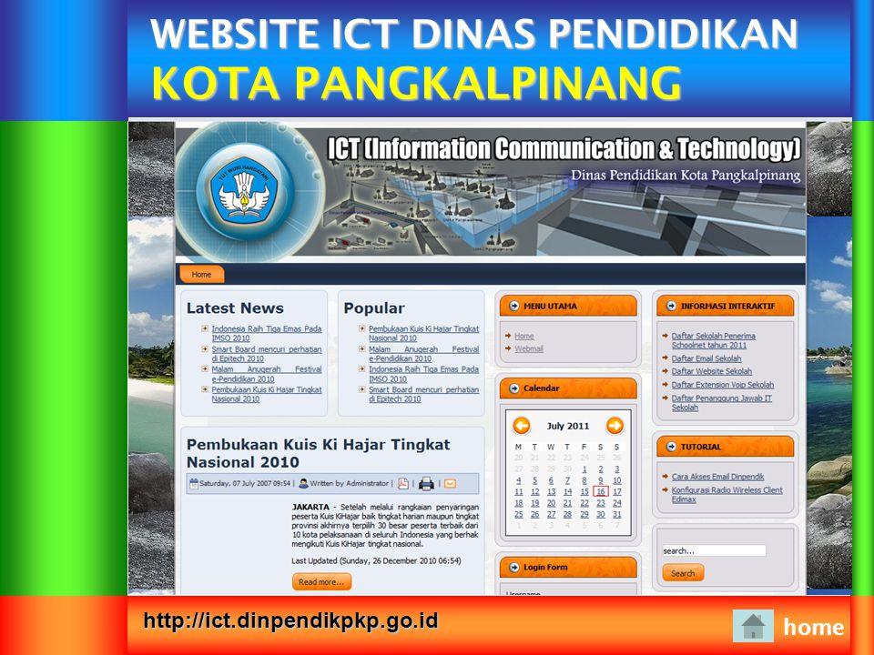 WEBSITE ICT DINAS PENDIDIKAN KOTA PANGKALPINANG