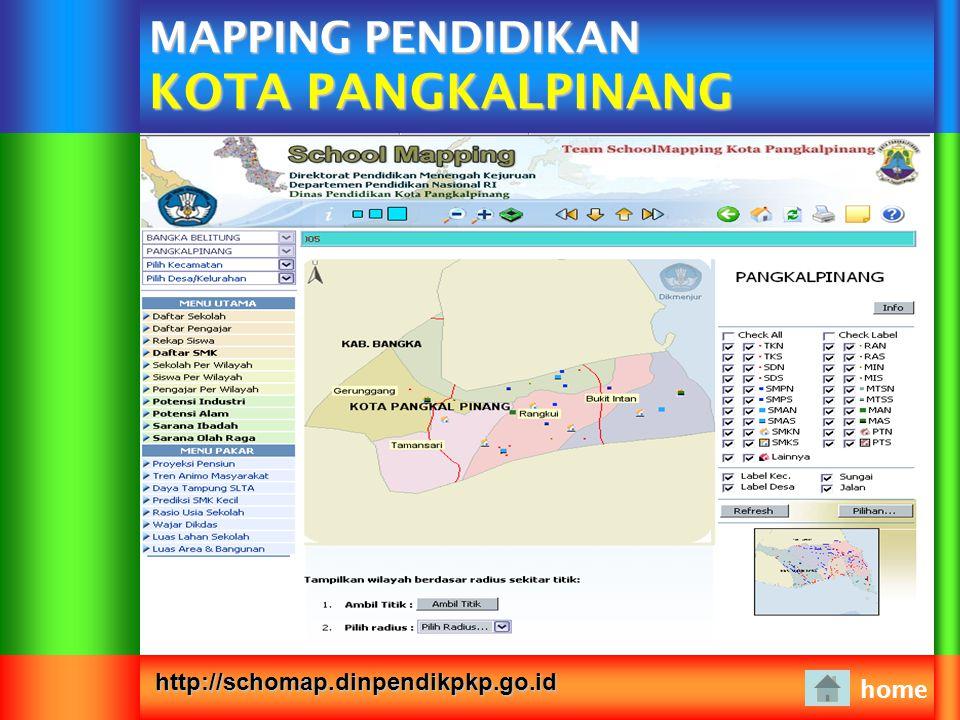 MAPPING PENDIDIKAN KOTA PANGKALPINANG