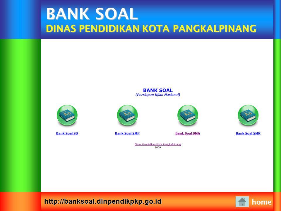 BANK SOAL DINAS PENDIDIKAN KOTA PANGKALPINANG