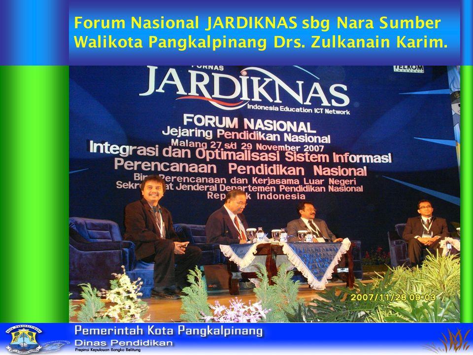 Forum Nasional JARDIKNAS sbg Nara Sumber Walikota Pangkalpinang Drs