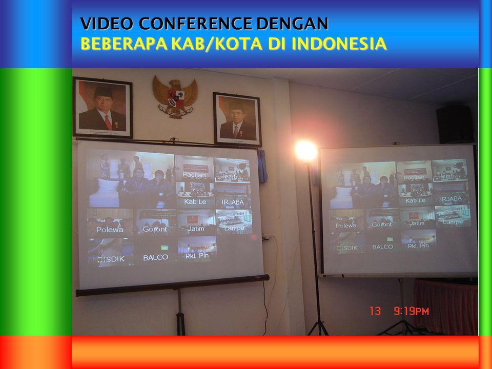 VIDEO CONFERENCE DENGAN BEBERAPA KAB/KOTA DI INDONESIA