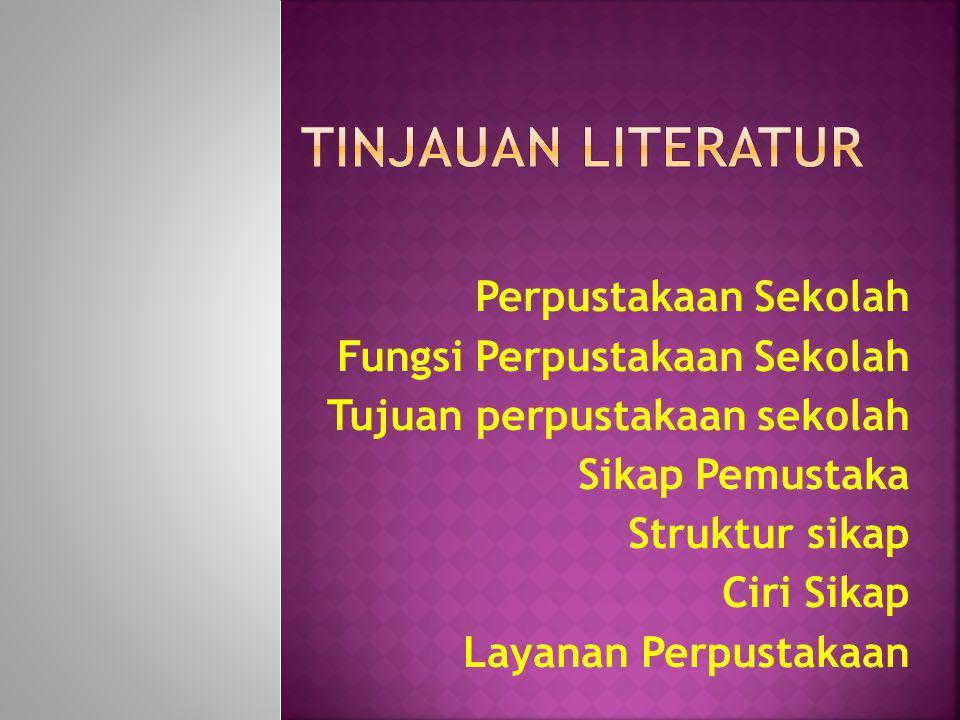 TINJAUAN LITERATUR Perpustakaan Sekolah Fungsi Perpustakaan Sekolah
