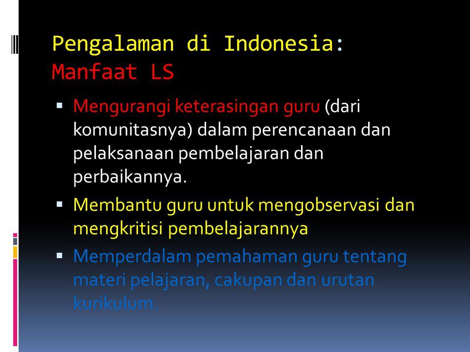 Pengalaman di Indonesia: Manfaat LS