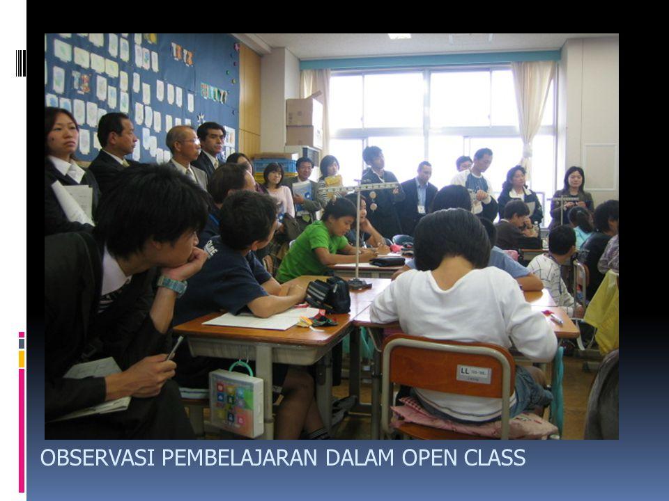 OBSERVASI PEMBELAJARAN DALAM OPEN CLASS