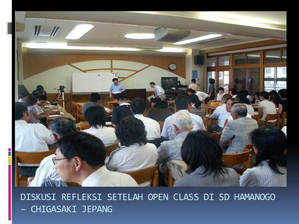 DISKUSI REFLEKSI SETELAH OPEN CLASS DI SD HAMANOGO – CHIGASAKI JEPANG