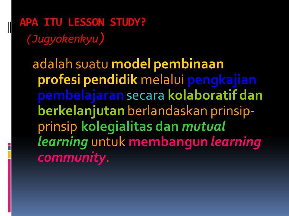 APA ITU LESSON STUDY (Jugyokenkyu)