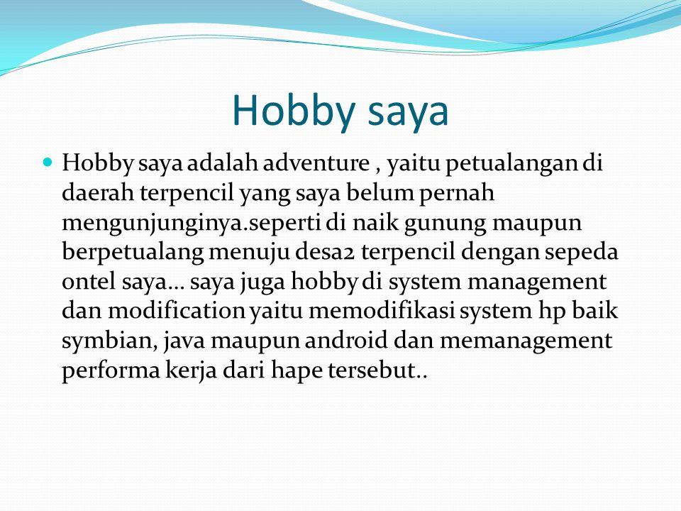 Hobby saya