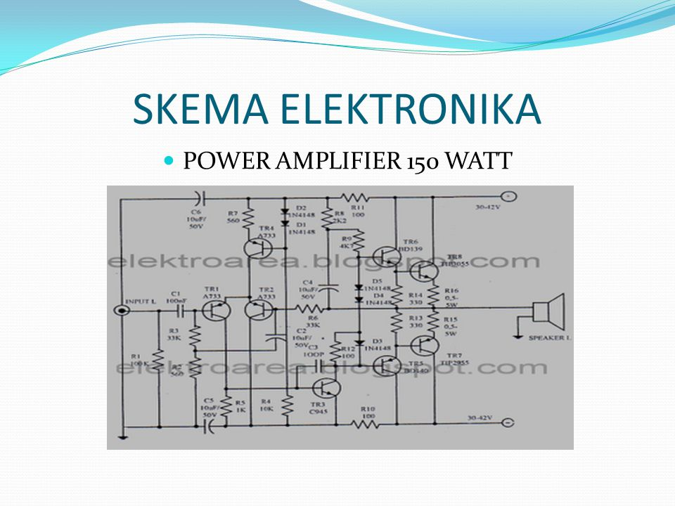 SKEMA ELEKTRONIKA POWER AMPLIFIER 150 WATT