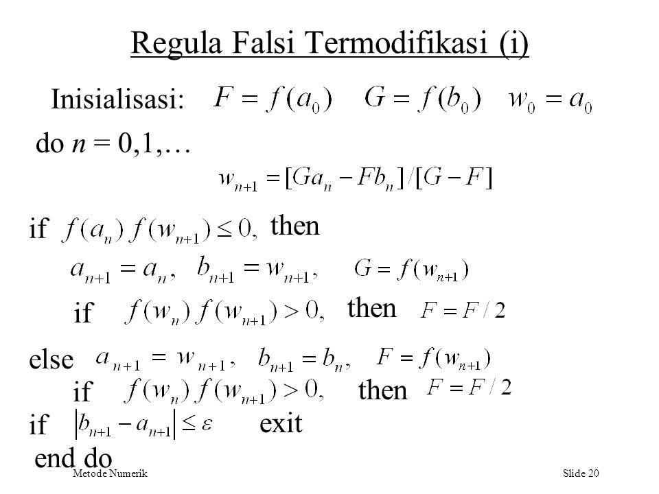 Regula Falsi Termodifikasi (i)