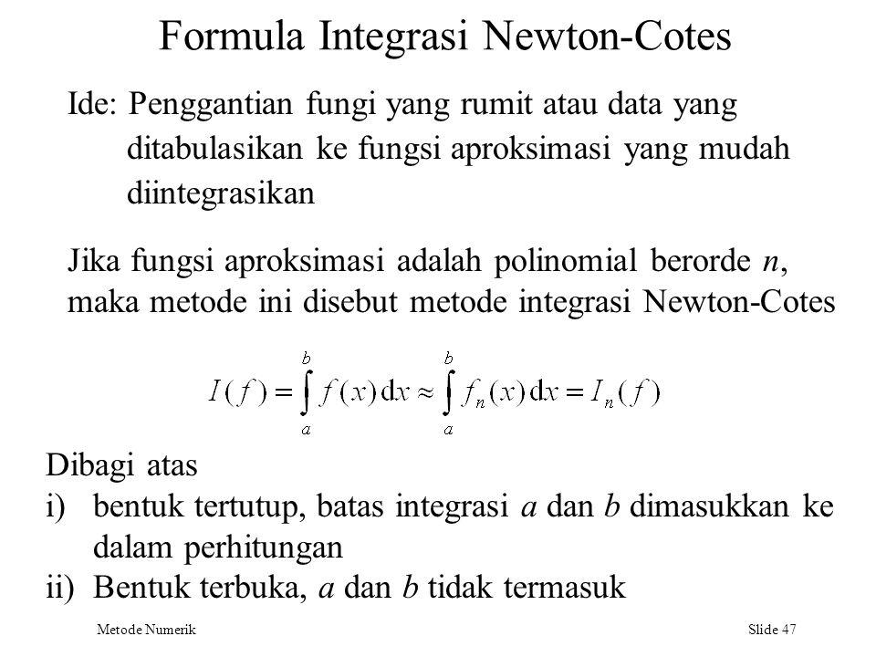 Formula Integrasi Newton-Cotes