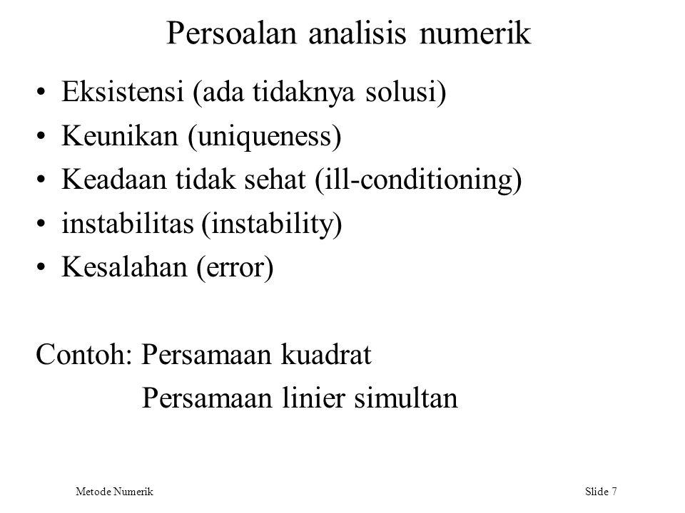 Persoalan analisis numerik
