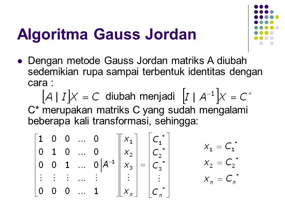 Algoritma Gauss Jordan