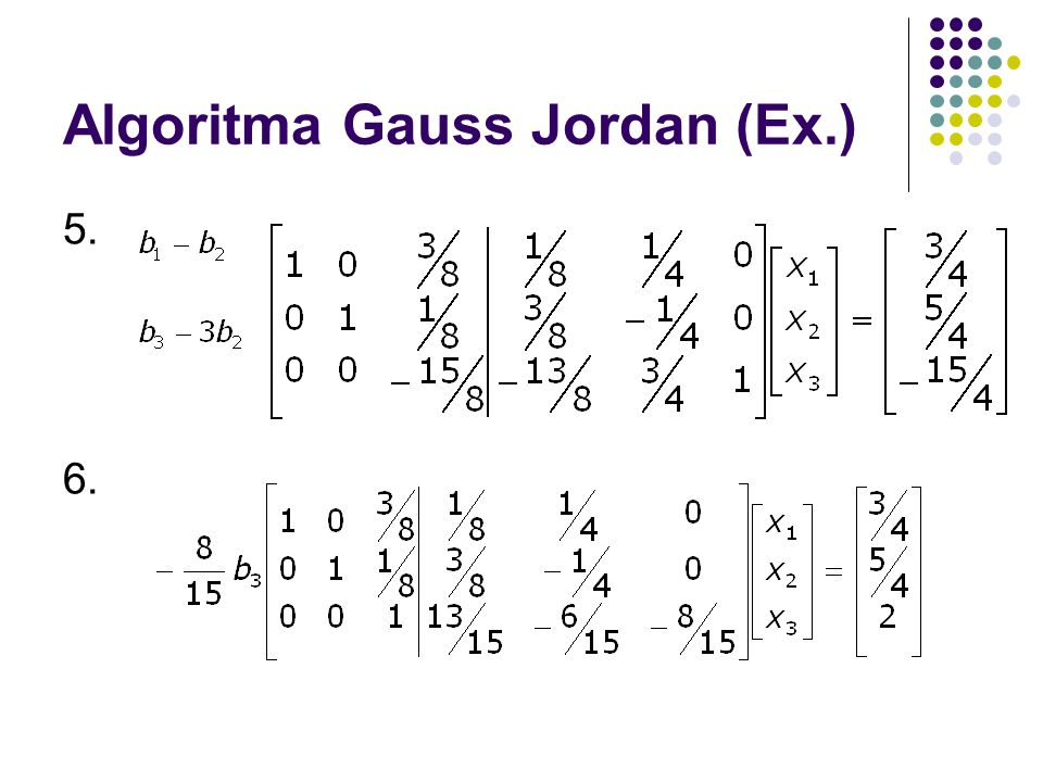 Algoritma Gauss Jordan (Ex.)