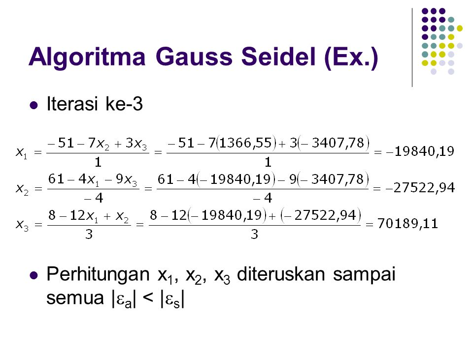 Algoritma Gauss Seidel (Ex.)