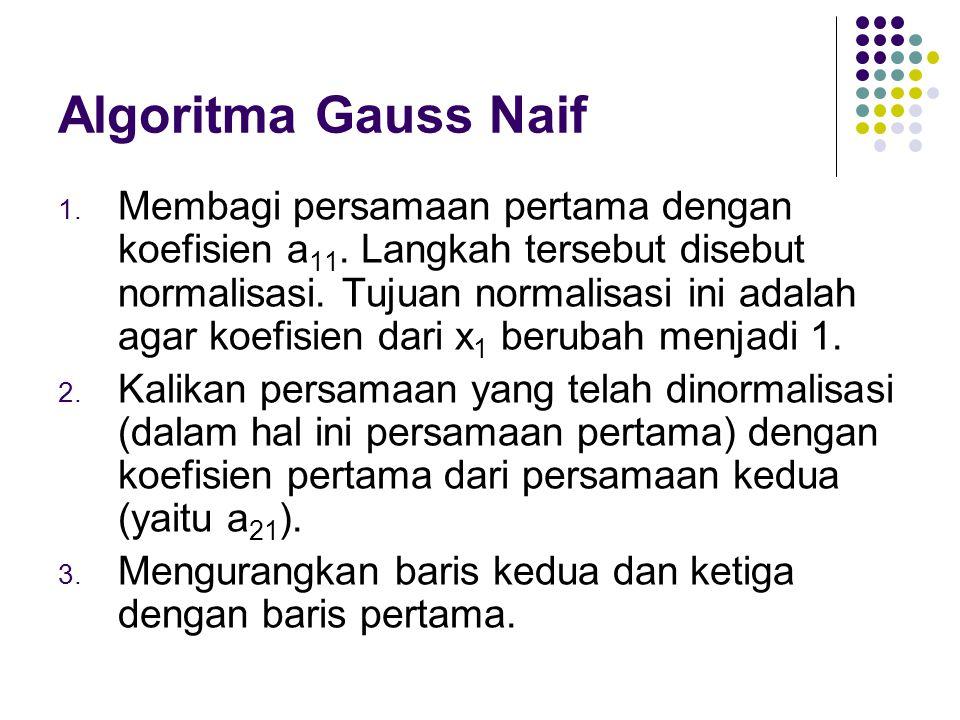 Algoritma Gauss Naif