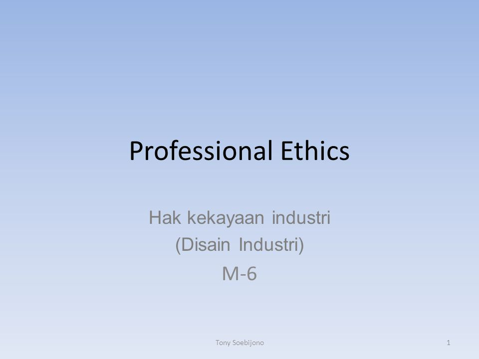 Hak kekayaan industri (Disain Industri) M-6
