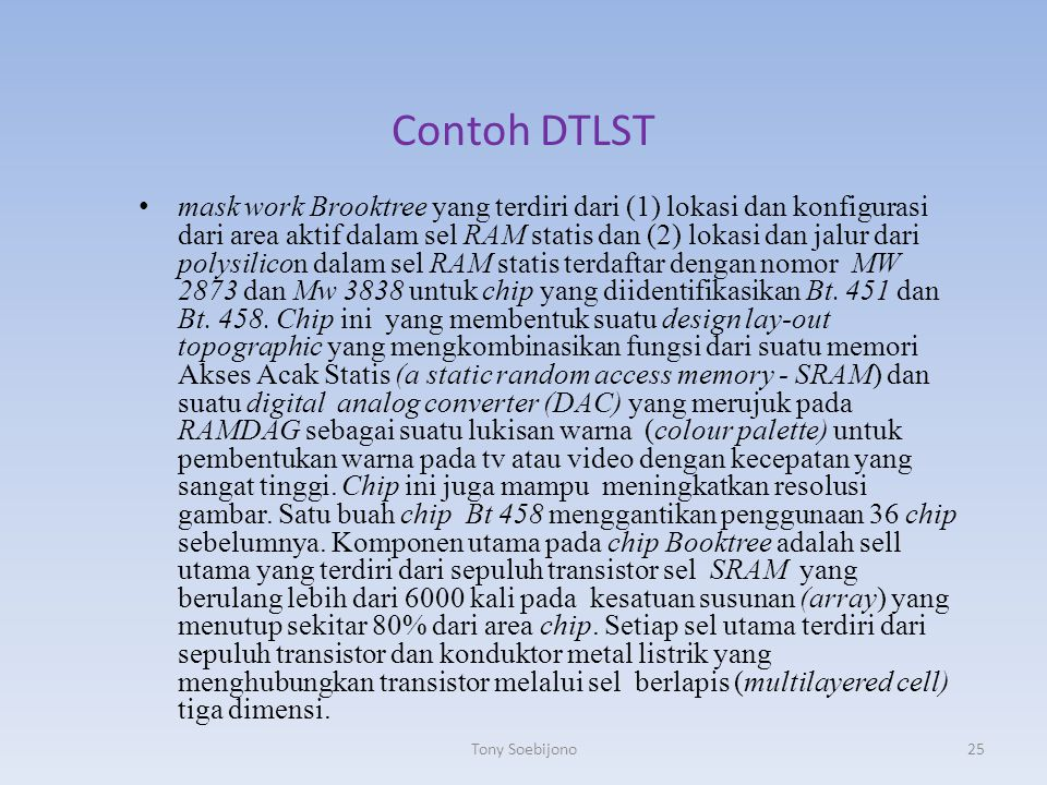 Contoh DTLST