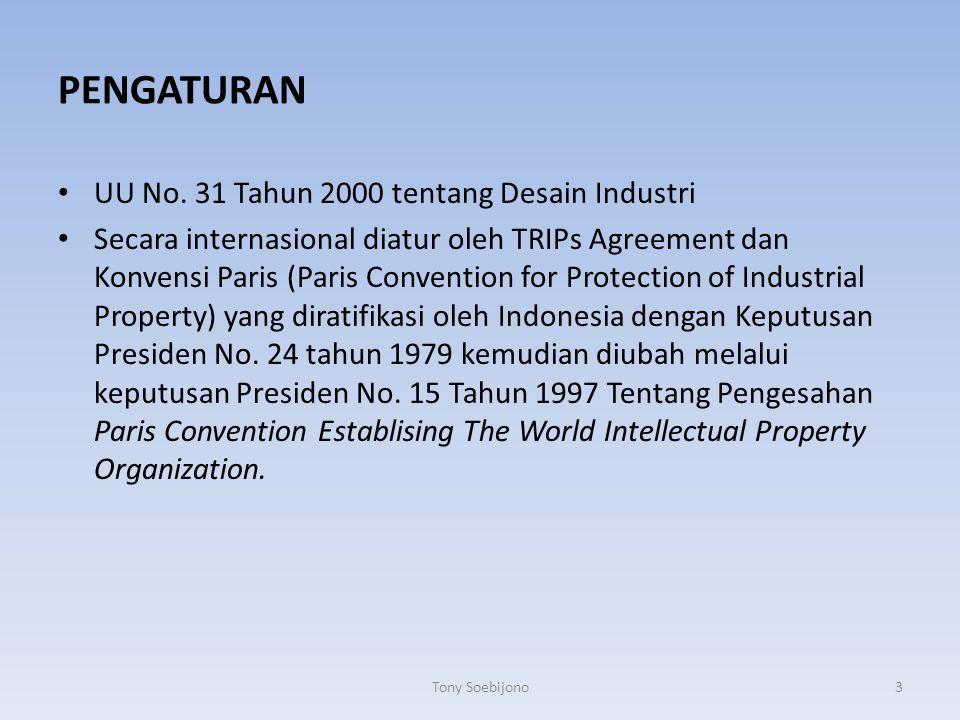PENGATURAN UU No. 31 Tahun 2000 tentang Desain Industri