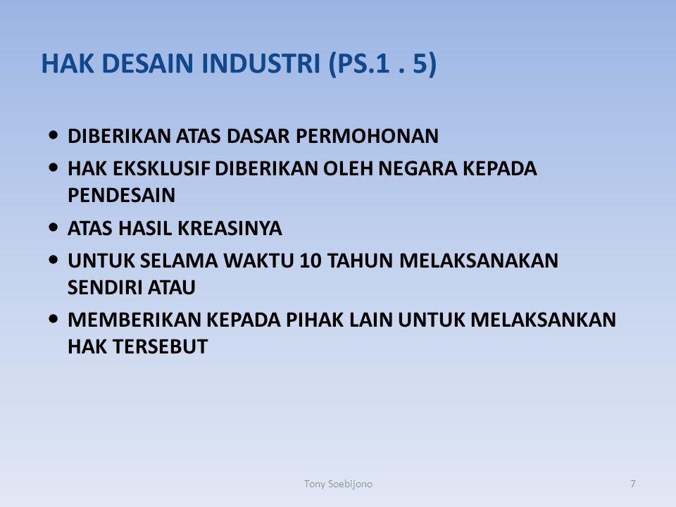 HAK DESAIN INDUSTRI (PS.1 . 5)