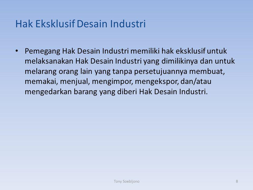Hak Eksklusif Desain Industri
