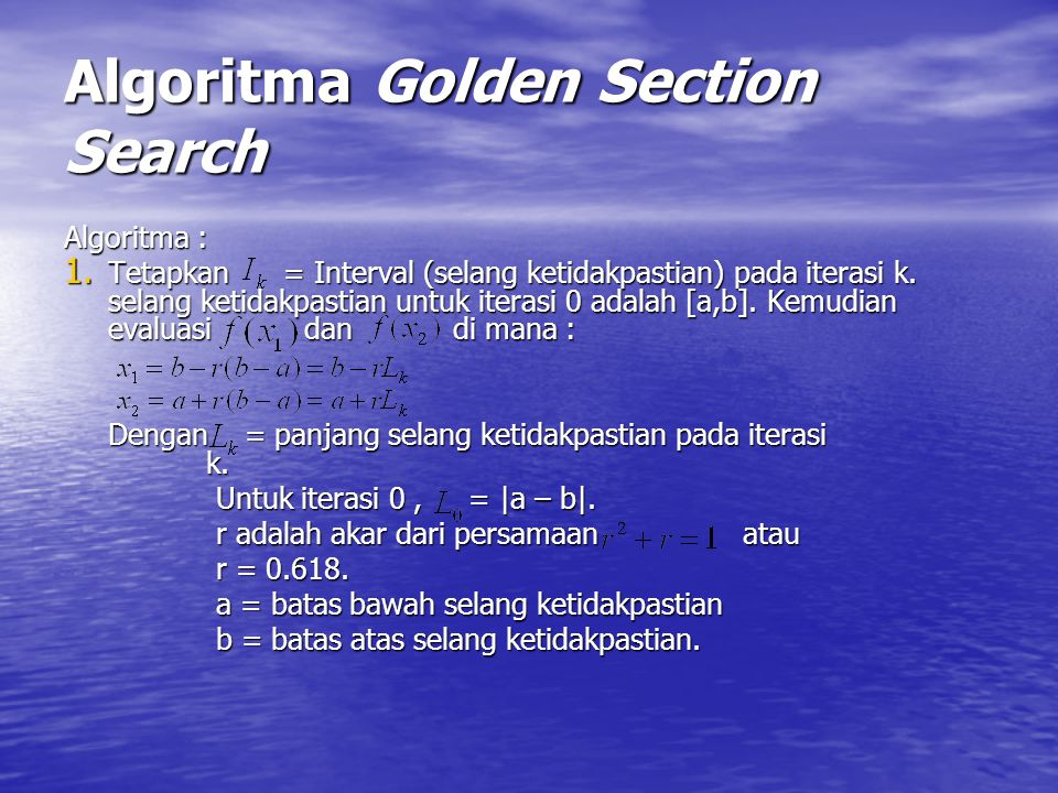 Algoritma Golden Section Search
