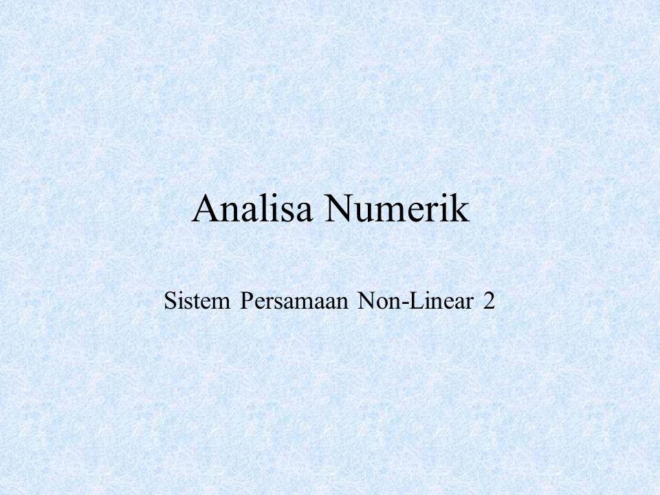 Sistem Persamaan Non-Linear 2