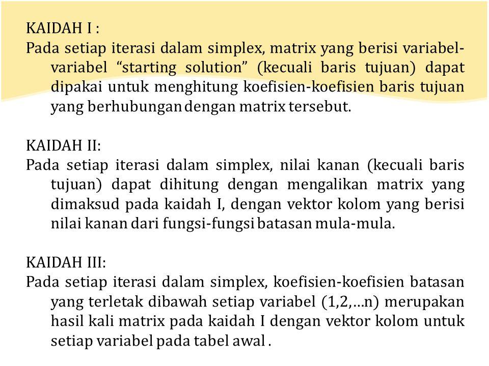 KAIDAH I :