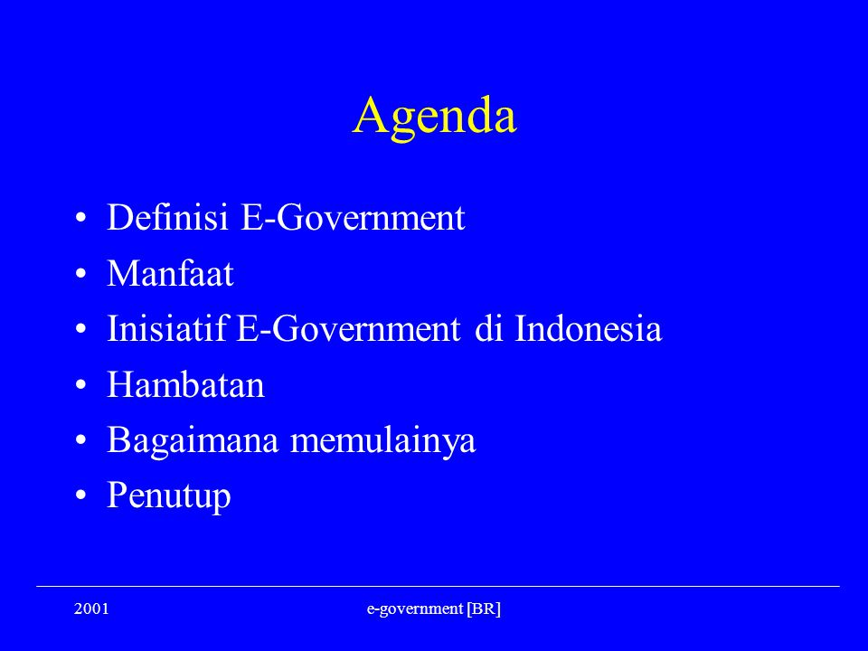 Agenda Definisi E-Government Manfaat