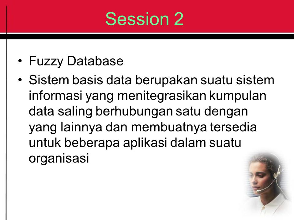 Session 2 Fuzzy Database