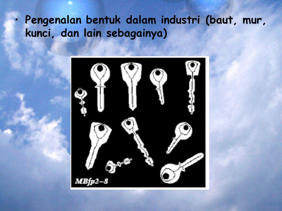 Pengenalan bentuk dalam industri (baut, mur, kunci, dan lain sebagainya)