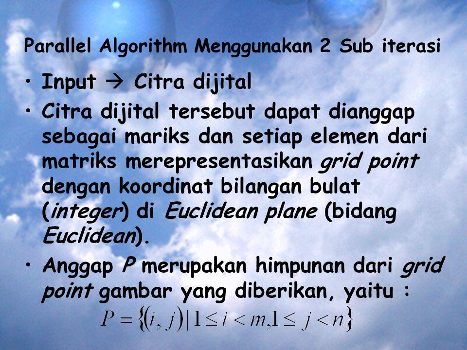 Parallel Algorithm Menggunakan 2 Sub iterasi