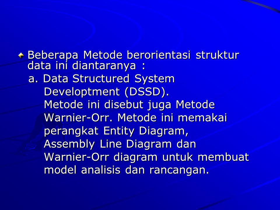 Beberapa Metode berorientasi struktur data ini diantaranya :