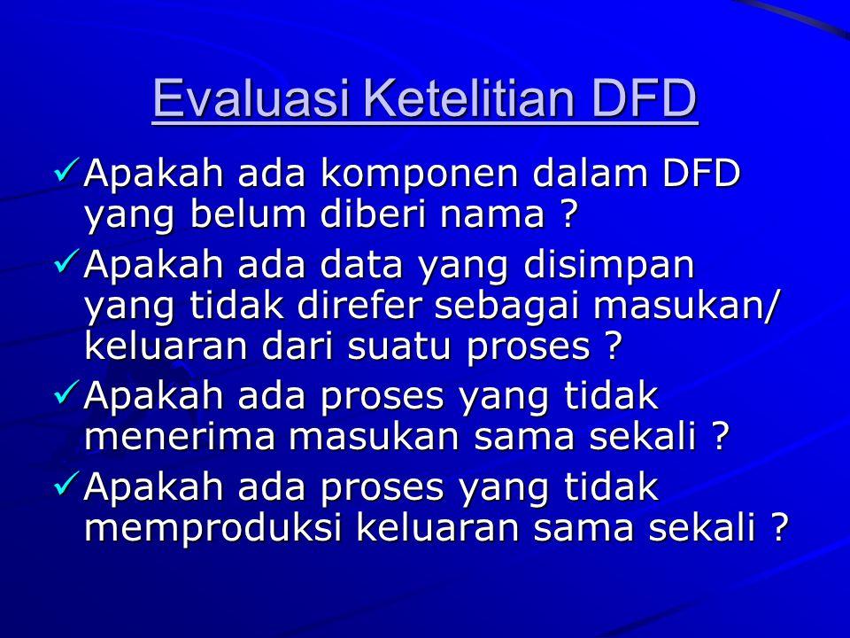 Evaluasi Ketelitian DFD