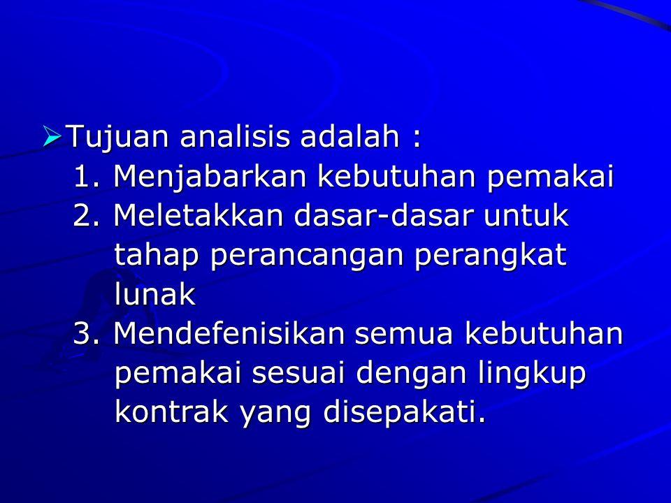Tujuan analisis adalah :