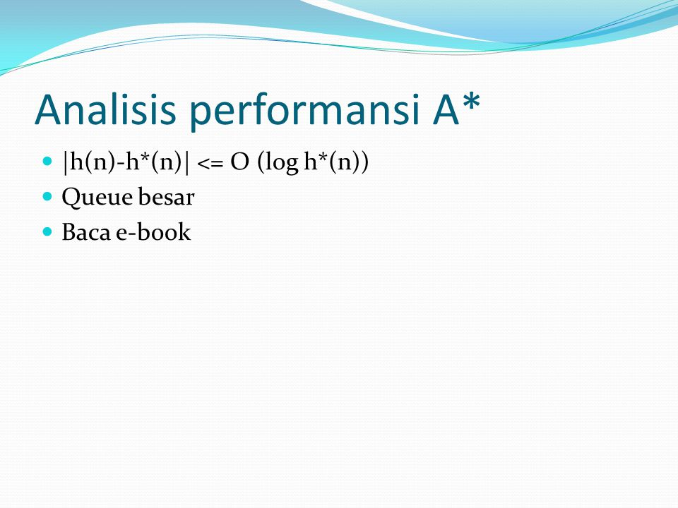 Analisis performansi A*