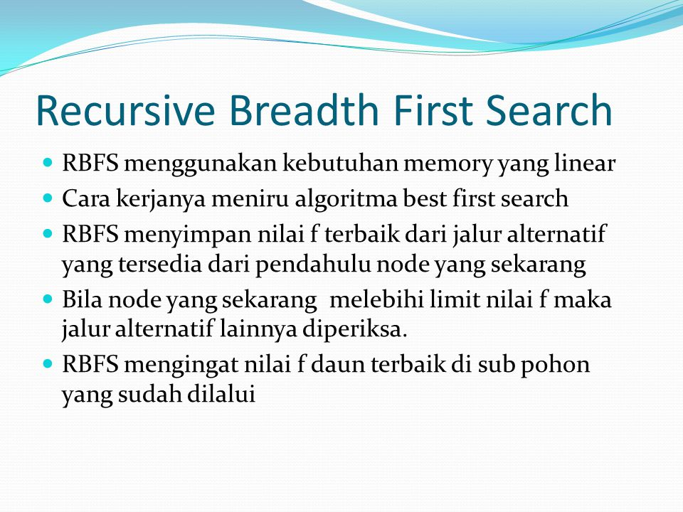 Recursive Breadth First Search