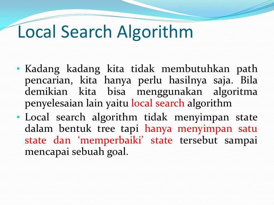 Local Search Algorithm