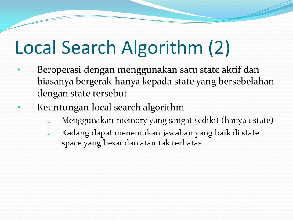 Local Search Algorithm (2)