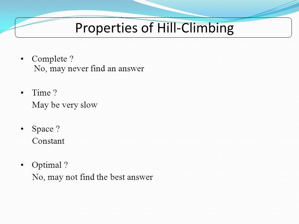 Properties of Hill-Climbing
