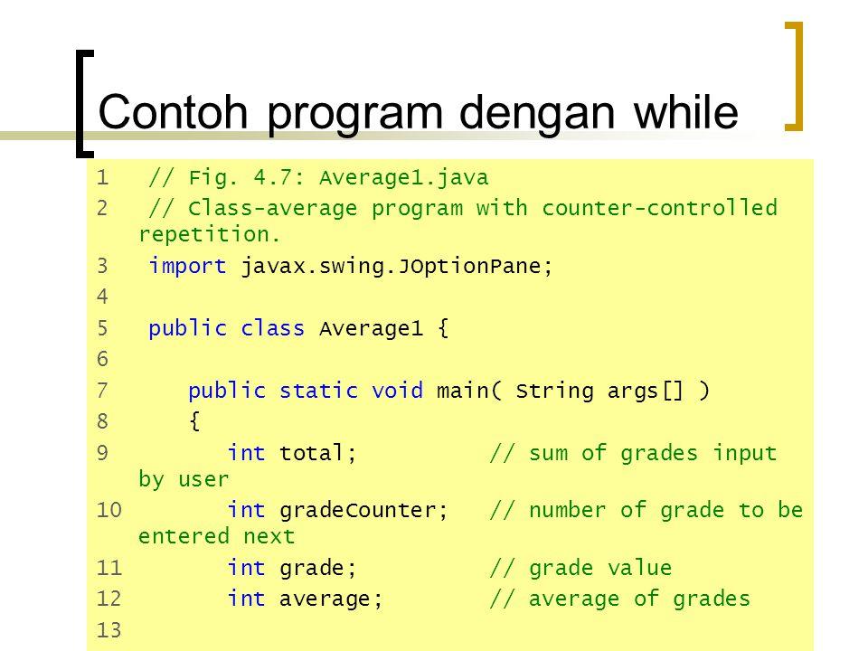 Contoh program dengan while