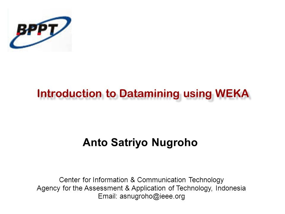 Introduction to Datamining using WEKA
