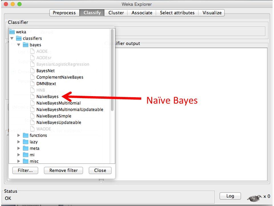 Naïve Bayes SMO ( implementasi SVM)