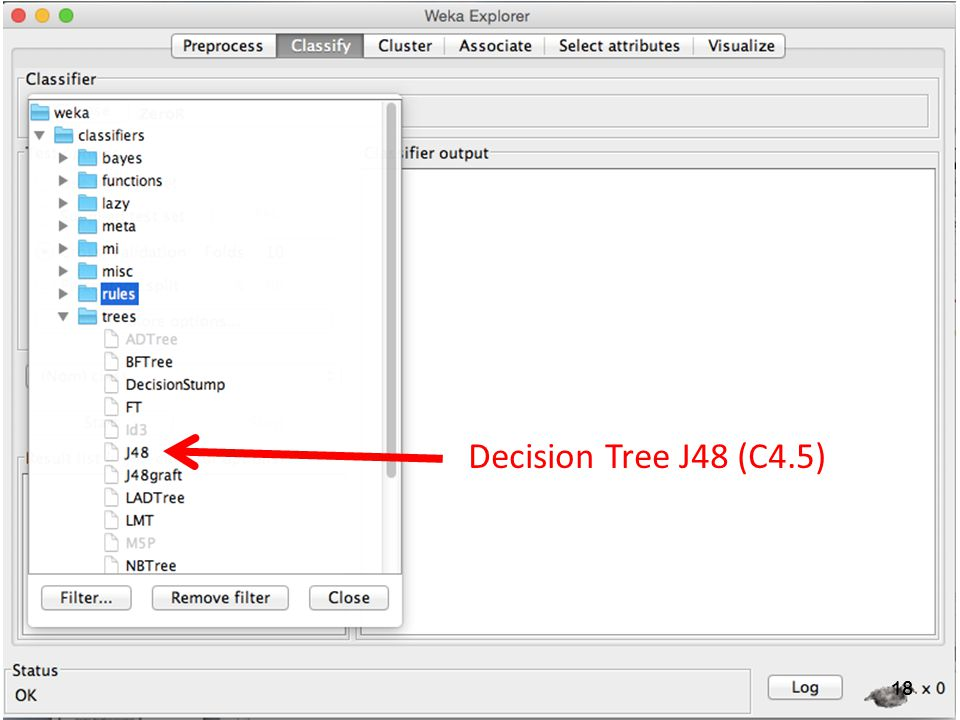 Decision Tree J48 (C4.5)